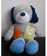 Target Circo Grey Puppy Dog Blue Orange Spots Plush Stuffed Animal Paper... - $23.84