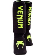 "Venum ""Kontact"" Shin and Instep Guards Black/Neo Yellow - $80.00"