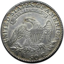 1818 Capped Bust Silver Half Dollar 50¢ Coin Lot# A 385 image 2