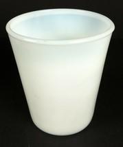 """Vintage Hazel Atlas Milk Glass Opalescent White Cup Tumbler 3 1/2"""" X 2 3/4"""" - $6.92"""