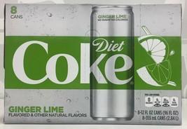 Coca Cola Diet Coke Ginger Lime Soda 8 pack - $21.73