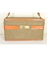 Hartmann luggage carry on Vtg makeup overnight case walnut brown tweed l... - $79.19