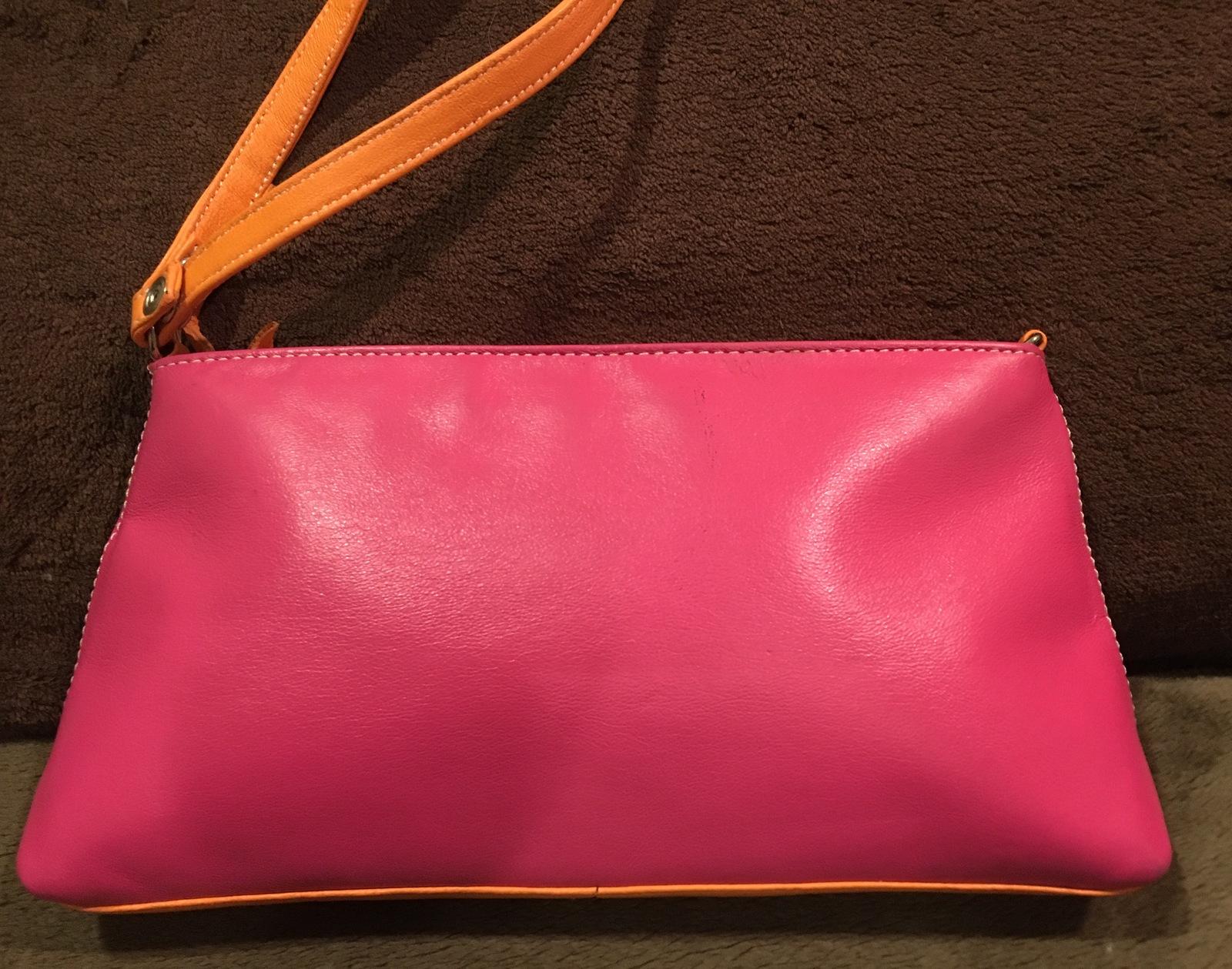 ef8ac142a2 Fiona Lang Leather Handbag Wristlet Clutch and 50 similar items. Image