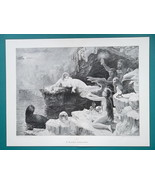 "NUDE Polar Magic Ice Treasures Mermaids - Victorian Era Print 14"" x 19"" - $25.20"