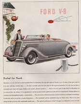 Orig Vintage Magazine AD/ 1935 Ford V-8 Roadster Ad - $13.00