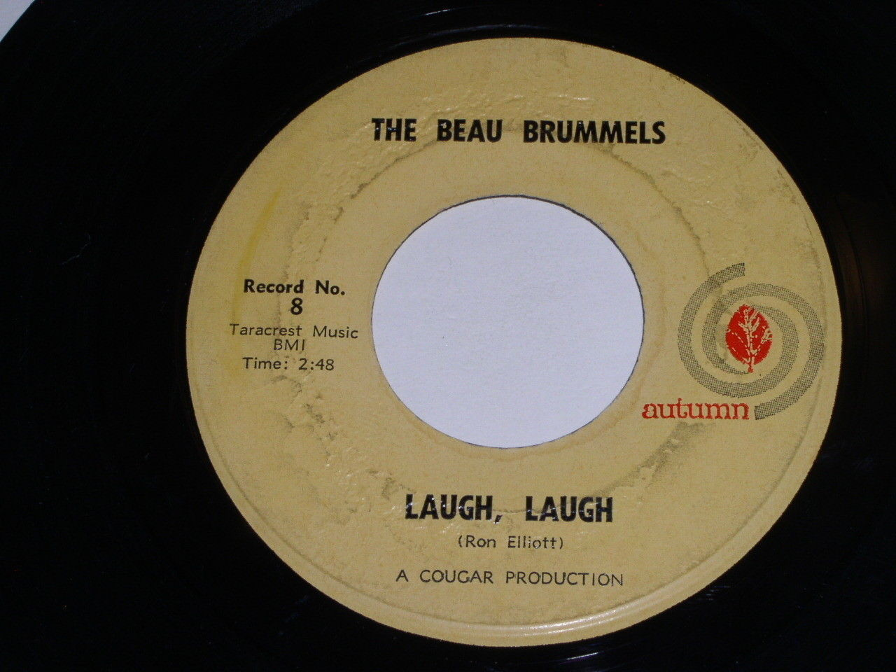 The Beau Brummels Laugh Laugh 45 Rpm Record Vintage Autumn Label