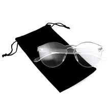 Colorful One Piece Rimless Transparent Sunglasses Women Tinted Candy Col... - $8.50+