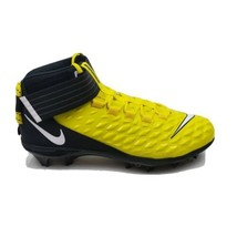 Nike Men Force Savage Pro 2 Mid Yellow Black Football Cleats AH4000 701 Sz 10.5 - $58.45