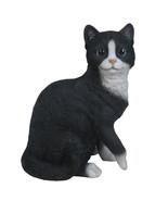 """Animal Collection Life Size Black and White Cat Figurine Statue 10 1/8""""Tall - $35.63"""