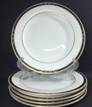 "Set of 5 Salad Plates NIKKO Fine China Phoenix Patra 8"" Gold Trim PD19 - $24.99"