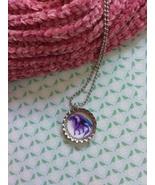 Purple Dragon Bottle Cap Necklace - $4.00
