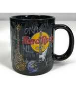 Hard Rock Cafe Chicago Guitars Music Oversized Souvenir Black Tea Coffee... - $19.79
