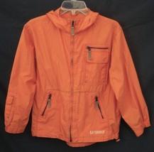 Orange Gap Kids Windbreaker Zip Front Jacket Cotton Coat Large 10 Adorable - $23.75