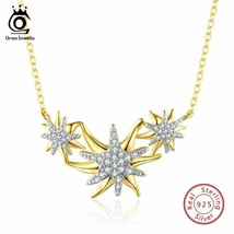 OrsaJewels® 925 Sterling Silver Women Necklaces And Pendants Gold-color - $18.19