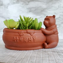 Winnie the Pooh Planter, Disney Animal Bear Redware Ceramic Plant Pot