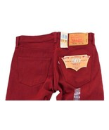 NEW LEVI'S 501 MEN'S ORIGINAL FIT STRAIGHT LEG JEANS BUTTON FLY RED 501-... - $49.49