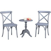 Island Gale 3pcs Bistro Set, Econ-Friendly Nylon Vintage-Style Accent/Di... - $249.00
