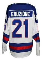 Any Name Number USA Miracle On Ice Hockey Jersey Eruzione White Any Size image 5
