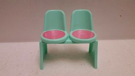 Rare Vintage Barbie Green Bench Dual Chair 1970'S  Excellent Condition S... - $14.99