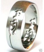 SSR15 Tribal Laser Cut Stainless Steel Ring  - $4.99