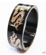 SSR519 Glossy Black Stainless Steel Dragon Ring  - $10.99