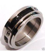 SSR2344 Black Carbon Fiber Stainless Steel Ring Sz 6, 7, 9 - $12.99
