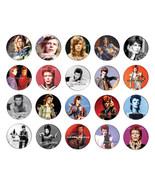 DAVID BOWIE ziggy stardust pin pinback button BADGE SET ( 20 badges) - $19.00