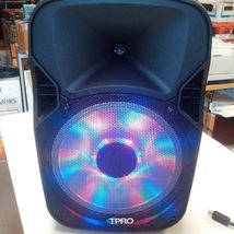 """TECHNICAL PRO 12"""" ACTIVE SPEAKER PB12M LED PORTABLE SPEAKER with Microphone image 3"""