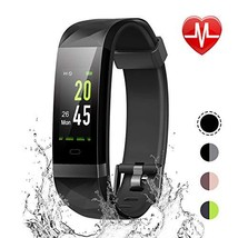 LETSCOM Fitness Tracker Color Screen, IP68 Waterproof Activity Tracker with - $48.76