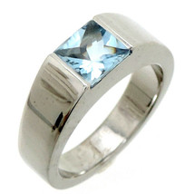 Cartier 750WG Tank Aquamarine ring White Gold US5 Used Very good condition  - $773.75