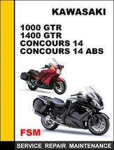 Kawasaki 1000 Gtr 1400 Gtr Concours 14 Abs Oem Repair  Manual Access It In 24 Hrs - $14.95