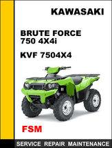 Kawasaki Bruteforce 750 Kvf 750 Factory Service Repair Manual Access It In 24 Hr - $14.95