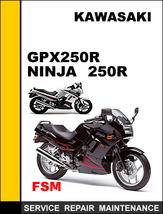 Kawasaki Gpx250 R Ninja 250 R Factory Service Repair Manual Access It In 24 Hours - $14.95