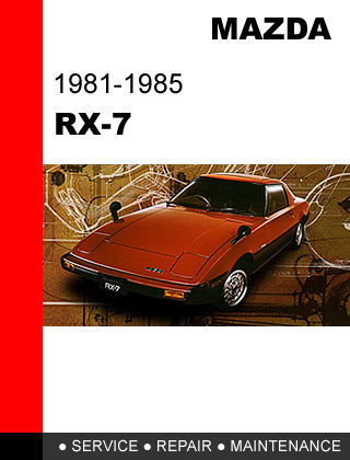 mazda rx7 rx 7 1981 1985 factory service and similar items rh bonanza com 1989 mazda rx7 factory service manual 1989 mazda rx7 factory service manual