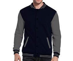 Maximos USA Men's Premium Vintage Baseball Letterman Varsity Jacket (2XL, Navy G