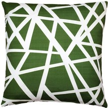 Pillow Decor - Bird's Nest Green Throw Pillow 20X20 - $49.95