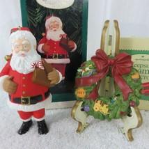 Lot of 2 Vintage Hallmark Keepsake Ornaments Wreath of Memories and Sant... - £11.12 GBP