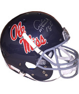 Archie Manning signed Ole Miss Rebels TB Dark Blue Full Size Schutt Repl... - $205.95