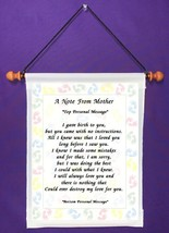 A Note From Mother - Personalized Wall Hanging (1101-1) - $18.99