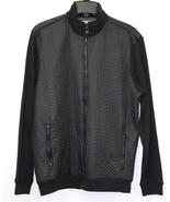 Calvin Klein Full Zip Faux Leather Trim Premium Quilted Sweatshirt Jacke... - $62.99