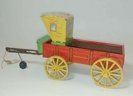 Vintage Tin Litho Toy Buckboard Wagon Stagecoach Northwestern  St Louis USA - $29.65