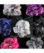 Wholesale Lady Mesh Flower Brooch Clip Pin Bridal Party Hair Holder Head... - $7.95