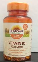 Sundown Naturals Vitamin D3 2000 IU 350 Softgels each Free US Ship 1/2023 - $20.78