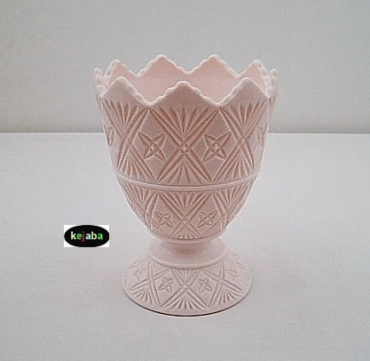 Jeannette Shell Pink Napco 2255 Bowl W/ Saw Tooth Top