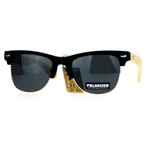 Polarized Lens Real Bamboo Sunglasses Classic Designer Club Matted - $13.95