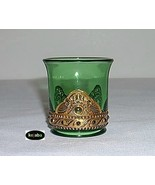 Lacy Medallion Green W/gold Toothpick Holder By Summit - $8.95