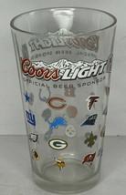 Coors Light Beer NFL 32 Teams Logo Glass 16oz Football Sponsor - $18.80