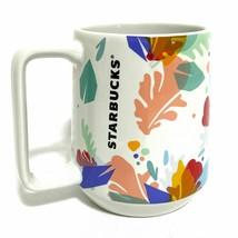 Starbucks 2020 Summer Leaf Cup Mug Orange Red Peach Blue Foliage Tea 14o... - $34.00