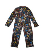Faded Glory Boys Pajamas L 10/12 Video Game 2 Piece Button Up Flannel PJs - $9.99