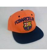 FCB FC Barcelona Orange Embroidered Baseball Hat Cap New Adjustable - $13.58